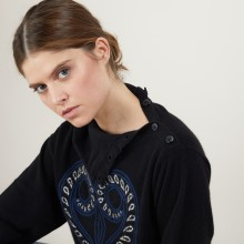 Cashmere sweater with high collar GRETEL