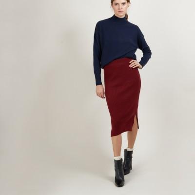 Cashmere slit straight skirt - Grenade