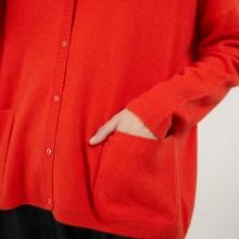 Cardigan en cachemire - Brune 7081 fusion - 15 Orange
