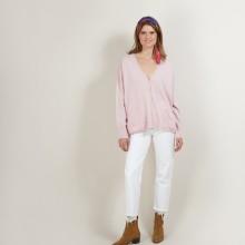 Cardigan en cachemire - Brune 7084 opale - 24 Rose clair