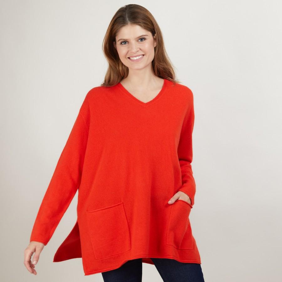Loose V-neck cashmere sweater - Belinda