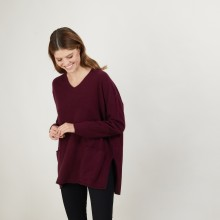 Loose V-neck cashmere sweater - Belinda