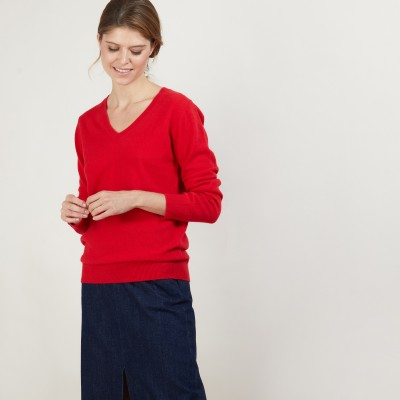 V-neck cashmere sweater - Bertille