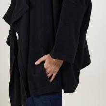 Gilet oversize en cachemire - Blondine 7010 noir - 01 Noir