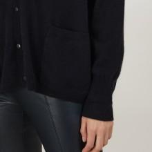 Cardigan en cachemire - Brune 7010 noir - 01 Noir