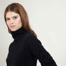 Cashmere funnel neck sweater - Fatou