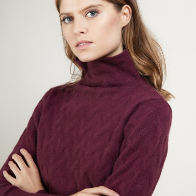 Cashmere funnel neck sweater - Fatou