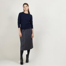 Pleated wool skirt - Faustina
