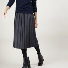 Jupe plissée en laine - Faustina 7011 ombre - 10 Gris foncé