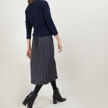 Jupe plissée en laine - Faustina