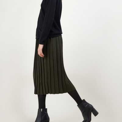 Pleated wool skirt - Faustina