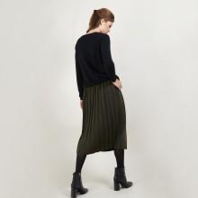 Jupe plissée en laine - Faustina 7050 bronze - 83 Kaki
