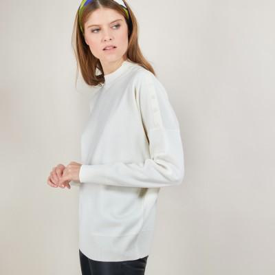 Pull en laine boutons épaule - Gipsy