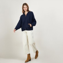 Zipped cashmere jacket - Greta