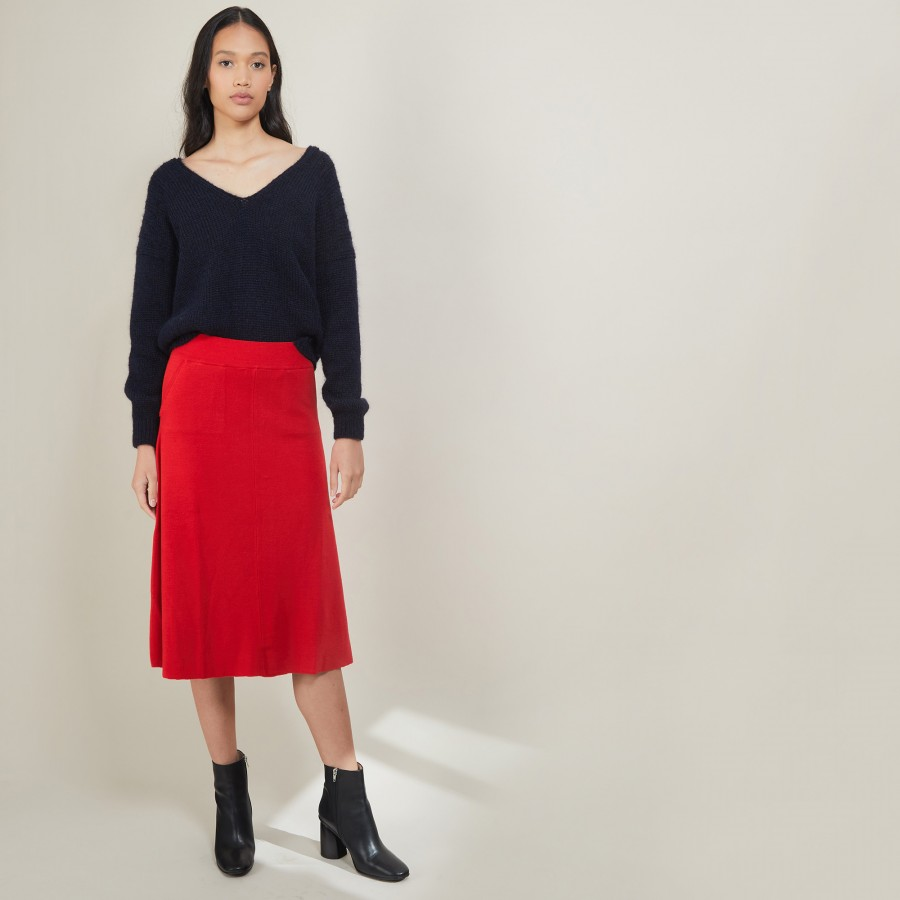 Wool skirt with pockets - Grazia