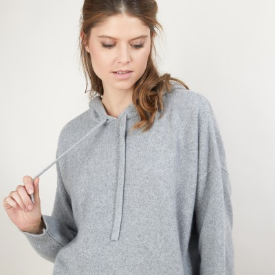 Recycled cashmere and wool hoodie - Gala
