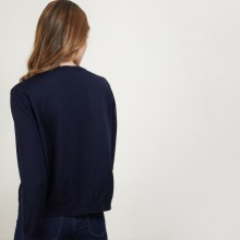 Double-breasted wool sweater Fredi