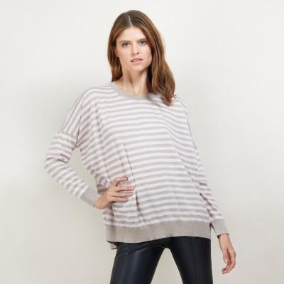 Pull rayé en laine - Felicia
