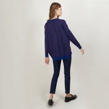 Pull rayé en laine - Felicia 7146 frégate/écorce - 47 Marron foncé