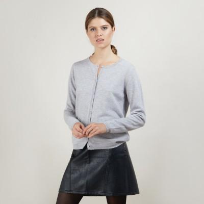 Round neck cashmere cardigan - Balletto