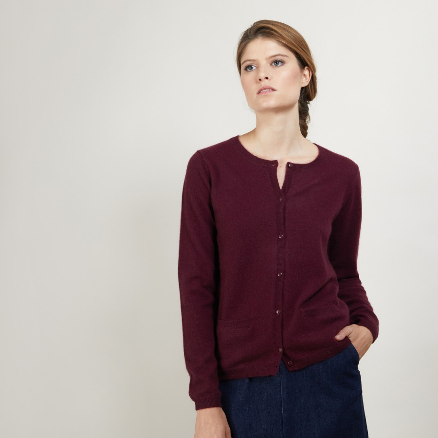 Round neck cashmere cardigan - Balletto