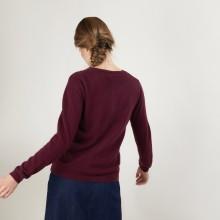 Cardigan col rond en cachemire - Balletto - 7085 damas - 18 Violet foncé