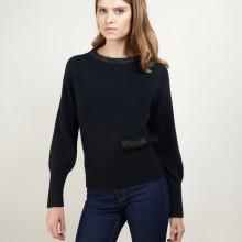 Alpaca wool round-neck sweater with raglan sleeves - Gina