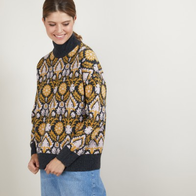 Pull col montant en cachemire 4 fils - Garence