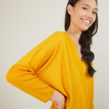 Batwing-sleeves wool sweater - Boxe
