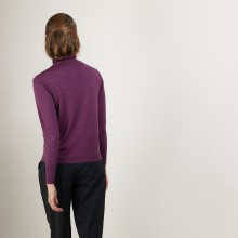 Wool and silk sweater with fancy collar - Florina