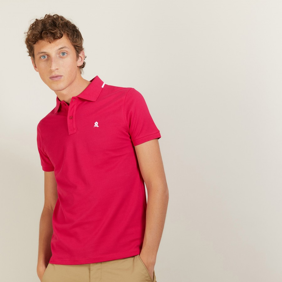 Short-sleeved cotton pique polo shirt - Babel
