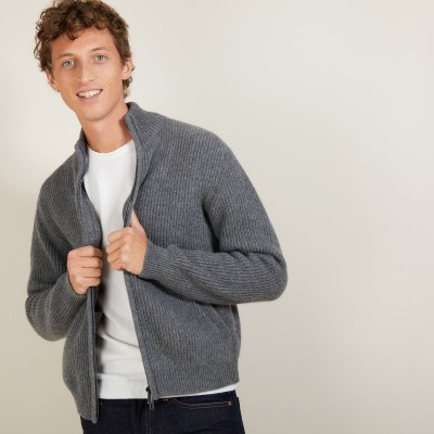 Alpaca Wool Zipped Jacket - Louis