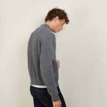 Veste zippée en Laine Alpaga - Louis 7012 Volute - 09 Gris moyen