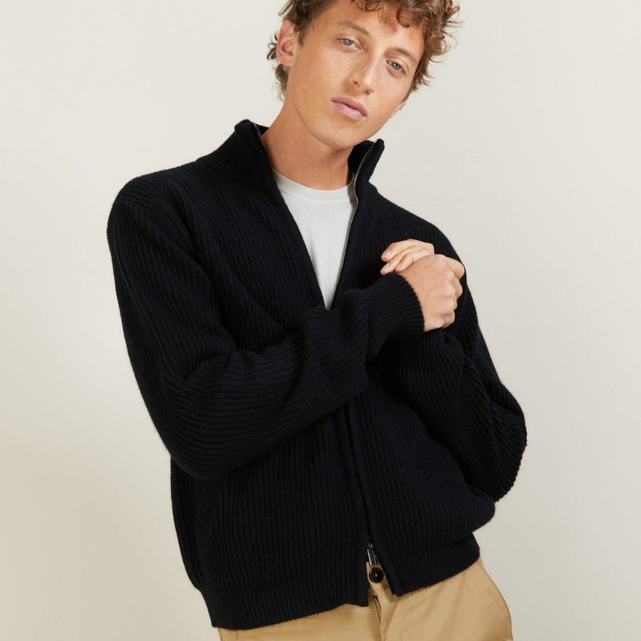 Cachemire zipped jacket -LOUIS