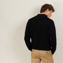 Veste zippée en Laine Alpaga - Louis 7010 noir - 01 Noir