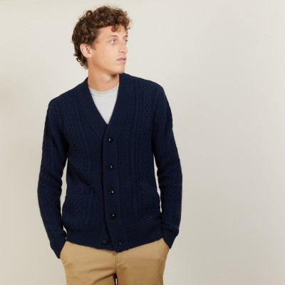 4-ply cashmere button-down cardigan - London