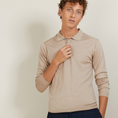 Wool and silk polo shirt - Bartev