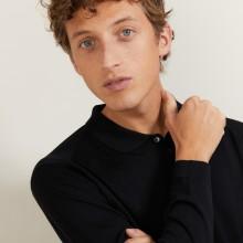Polo en laine et soie - Bartev 7010 noir - 01 Noir