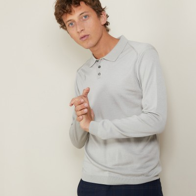 Polo en laine et soie - Bartev