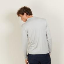 Polo en laine et soie - Bartev 7013 vapeur - 11 Gris clair