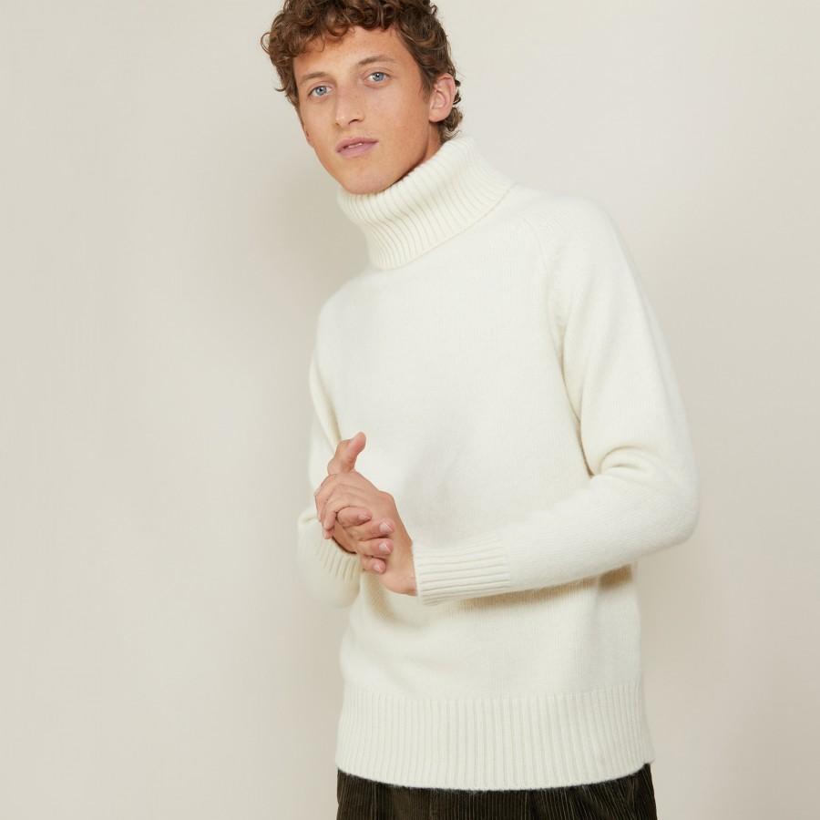 Wool and alpaca turtleneck sweater - Locelo