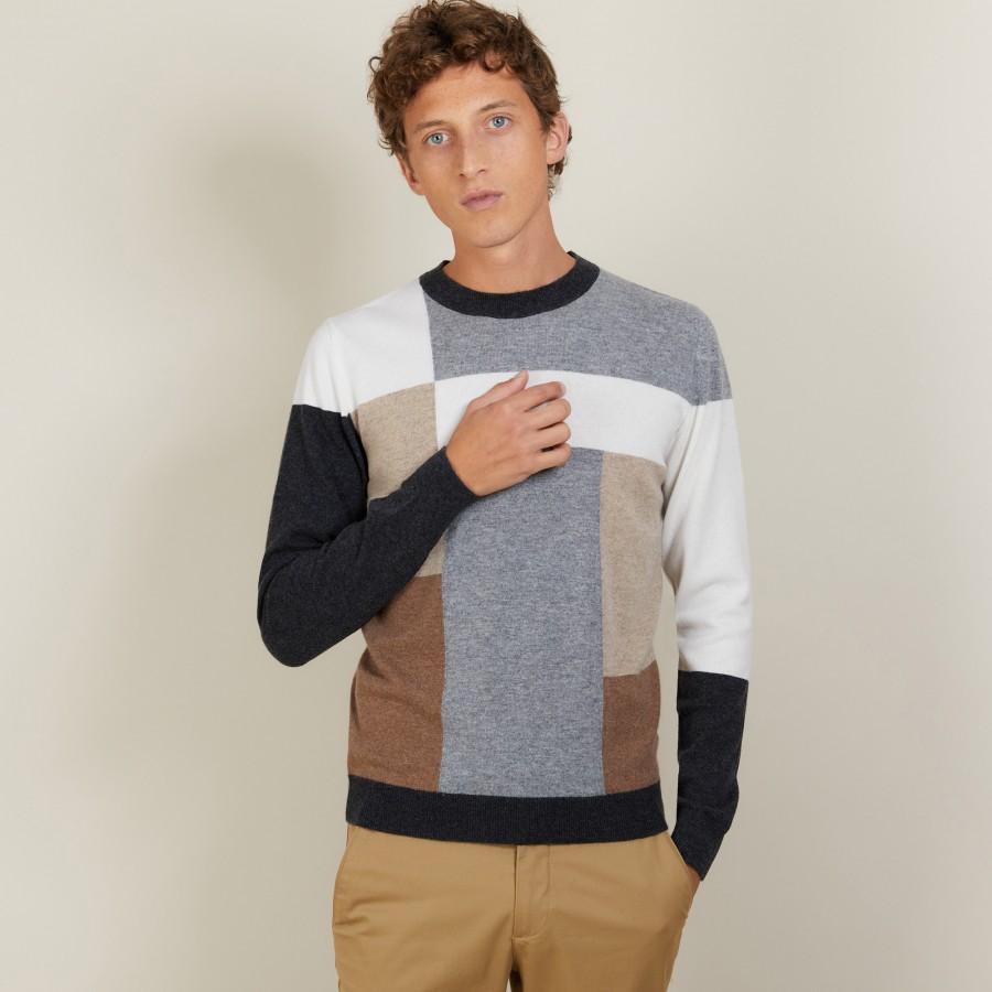 Geometric cashmere sweater - Lima