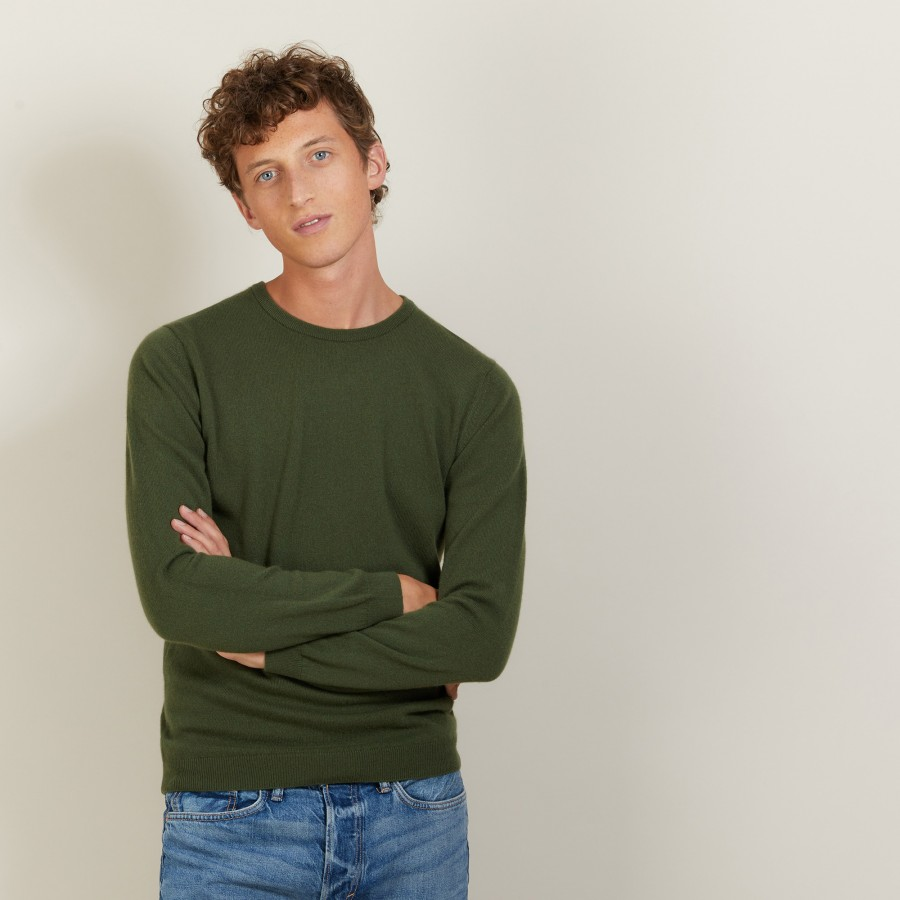Round-neck cashmere sweater-BENOIT