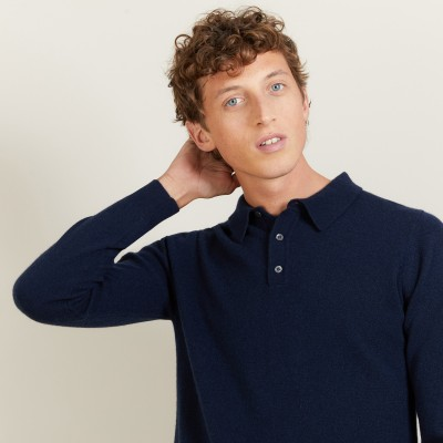 Cashmere polo neck sweater - Billy