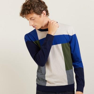 Pull motifs géométriques en laine - Leonard