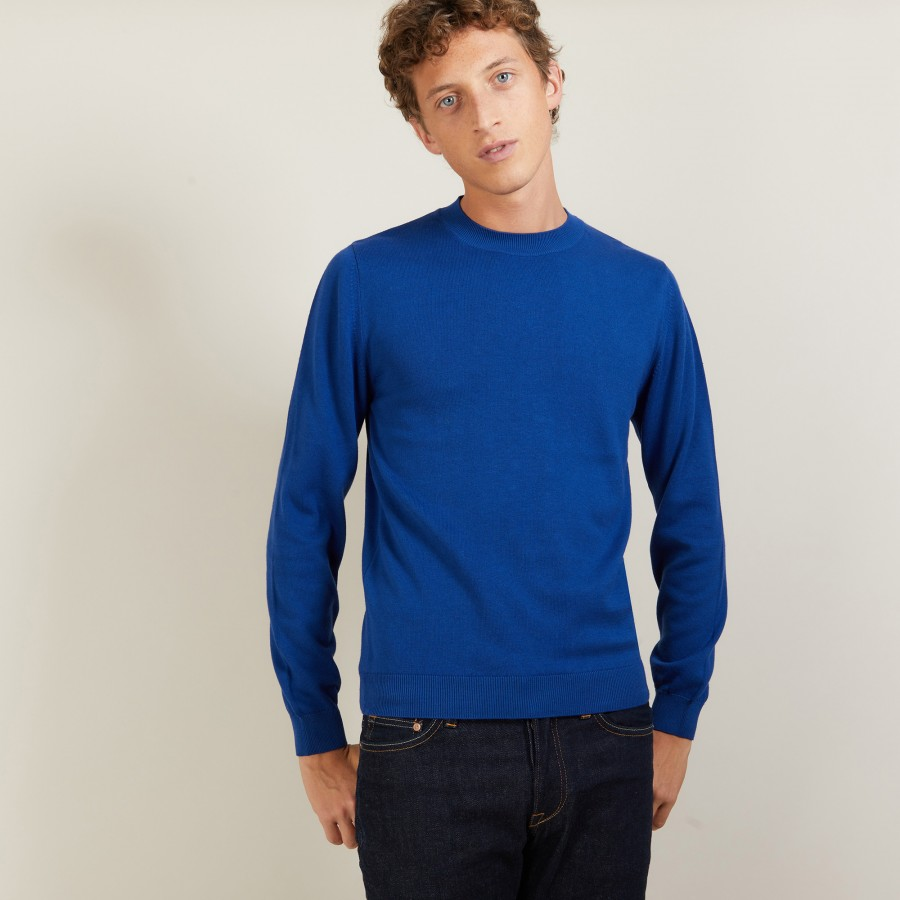 Round neck cotton cashmere sweater - Burton