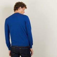 Pull col rond en coton cachemire - Burton 7042 fregate - 48 Bleu roi
