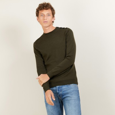 Wool sweater with buttons - Legende