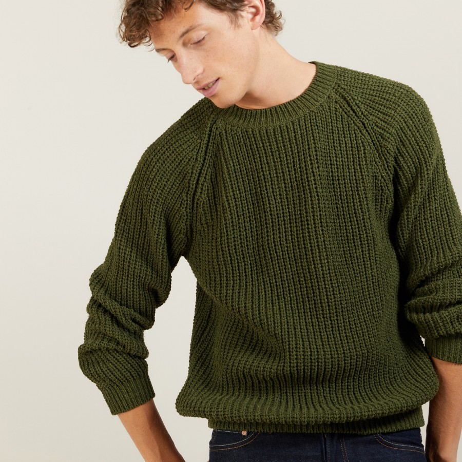 Wool silk raglan sleeves sweater - Bolide