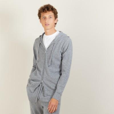 Veste zippée à capuche en cachemire - Bradley